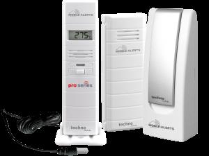MA 10007 mit Temperatursensor und Pro series Thermo-/Hygrosensor mit Kabelsonde