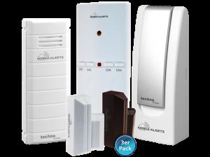 MA 10025 mit Kontaktsensoren, Alarmsensor und Temperatursensor